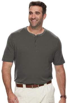 Croft & Barrow Big & Tall Classic-Fit Easy-Care Interlock Henley