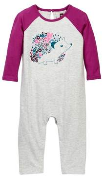 Tea Collection Hedgehog Graphic Romper (Baby Girls)