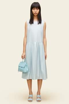 Mansur Gavriel Silk Cotton Sleeveless Pleated Dress