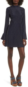 J.o.a. Women's High Neck Fit & Flare Dress
