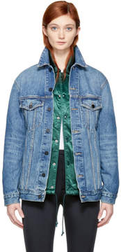 Alexander Wang Blue Oversized Denim Daze Jacket