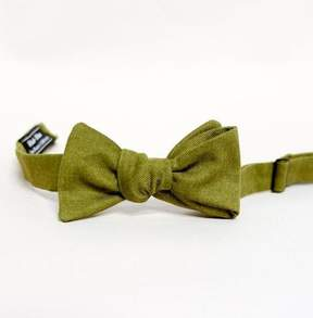 Blade + Blue Solid Olive Green Cotton Bow Tie
