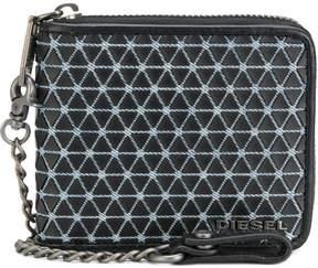 Diesel patterned chain wallet