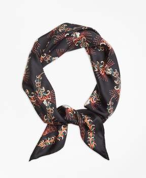 Brooks Brothers Flower Silk Twill Scarf