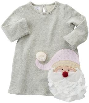 Mud Pie Glitter Santa Dress Girl's Dress