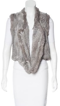 Antik Batik Knit Fur Vest
