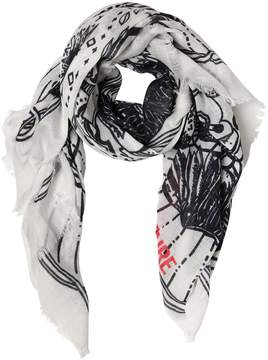 Zadig & Voltaire Tattoo Printed Scarf