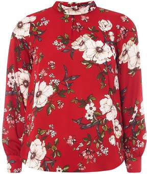 Dorothy Perkins Red Floral Tie Back Top