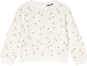 Emile et Ida White Peaches Print Sweatshirt