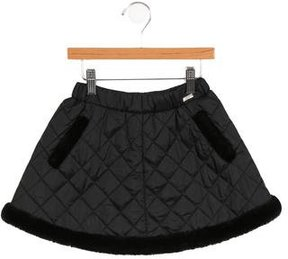 Junior Gaultier Girls' Quilted A-Line Skirt w/ Tags