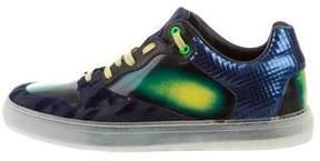 Balenciaga Devoré Leather Sneakers