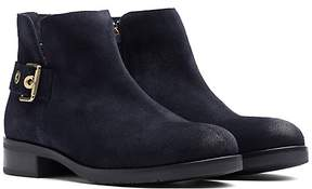 Tommy Hilfiger Suede Flat Ankle Boot