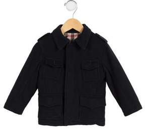 Burberry Boys' Wool Pointed Collar Coat