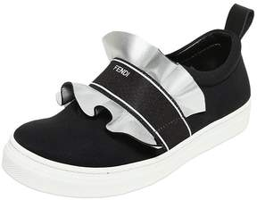 Fendi Neoprene & Leather Slip-On Sneakers