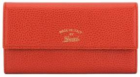 Gucci Orange Calfskin Leather Swing Continental Wallet - ORANGE - STYLE