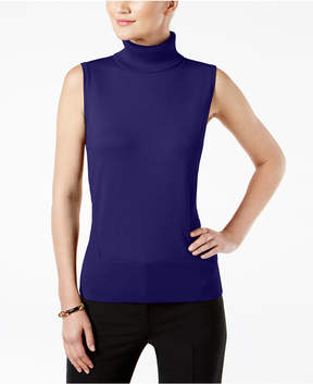 Cable & Gauge Sleeveless Turtleneck Sweater