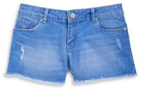 Calvin Klein Jeans Girls Cutoff Jean Shorts
