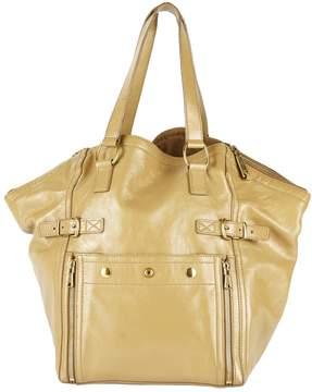 Saint Laurent Downtown patent leather handbag - BEIGE - STYLE