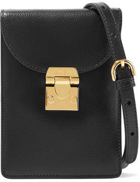 Mark Cross Josephine Textured-leather Shoulder Bag - Black