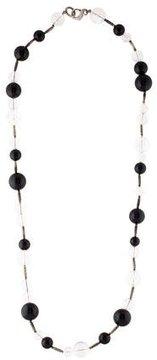 David Yurman Quartz & Onyx Bead Popcorn Necklace