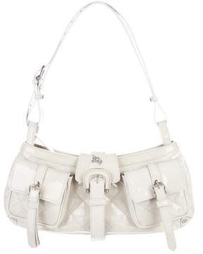 Burberry Quilted Patent Leather Shoulder Bag - NEUTRALS - STYLE