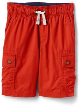 Lands' End Lands'end Boys Husky Flex Waist Pull On Cargo Shorts