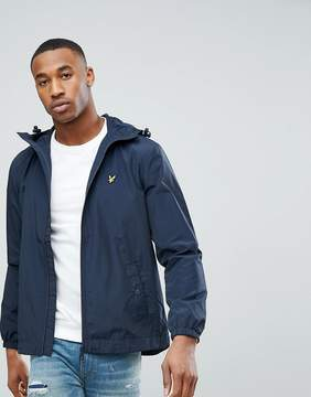 Lyle & Scott Showerproof Raincoat In Navy
