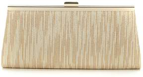 Adrianna Papell Storm Pleated Metallic Clutch
