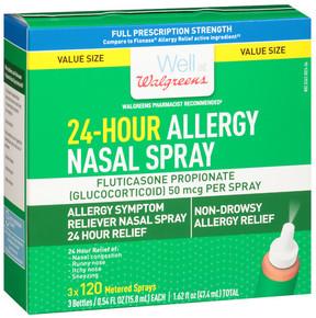 Walgreens 24-Hour Allergy Nasal Spray 3 X 120 Metered Spray