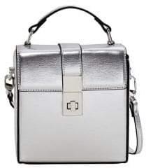 MANGO Faux Leather Coffer Bag