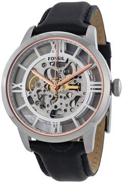 Fossil Townsman Automatic See Through Dial Black Leather Men's Watch