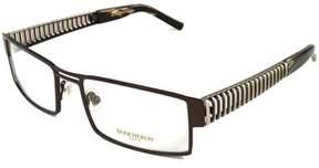 Boucheron Unisex Curved Rectangular Eyeglasses Purple/gold.