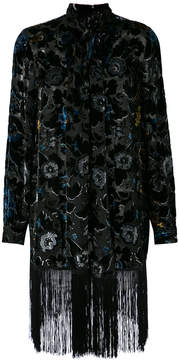 Anna Sui robe with fringed hem