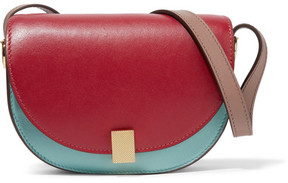 Victoria Beckham Half Moon Box Nano Leather Shoulder Bag - Red