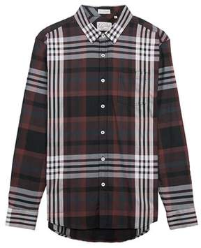 7 Diamonds Harrington Shirt In Maroon.