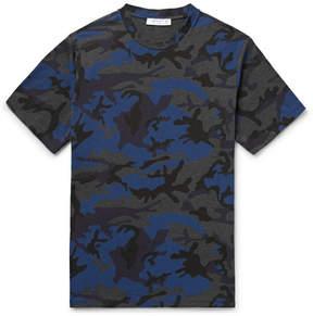 Sandro Camouflage-Print Cotton-Blend Jersey T-Shirt