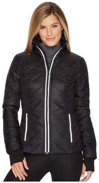 Blanc Noir Puffer Jacket with Reflective Trim Women's Coat