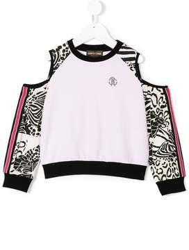 Roberto Cavalli off-shoulder print sweatshirt