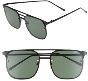Quay Men's Hendrix 64Mm Navigator Sunglasses - Z/dnu Black/ Green