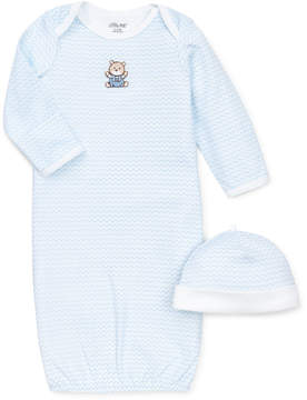 Little Me Baby Boys' 2-Piece Chevron Hat & Gown Set