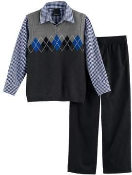 Chaps Boys 4-7 Argyle Sweater Vest Set