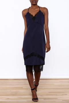 Adelyn Rae Satin Midi Length Slip Dress