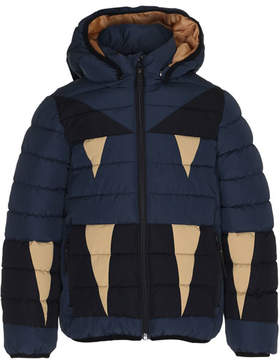 Molo Monster Hooded Puffer Jacket, Size 4-10