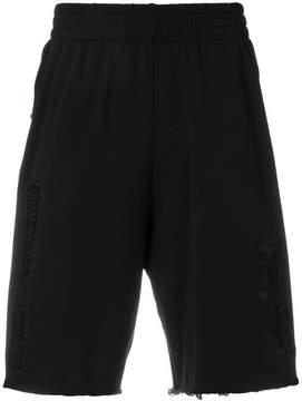 John Richmond embroidered track shorts