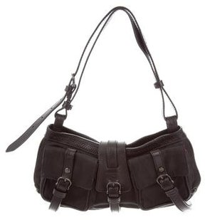 Burberry Leather-Accented Nylon Shoulder Bag - BLACK - STYLE