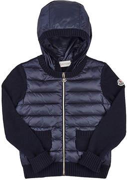 Moncler Kids' Sweater-Sleeve Zip-Front Cardigan