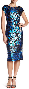 ECI Foil Printed Scuba Dress
