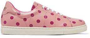 RED Valentino Polka-Dot Leather Sneakers