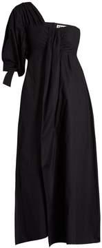 DAY Birger et Mikkelsen TEIJA One-shoulder cotton-poplin midi dress