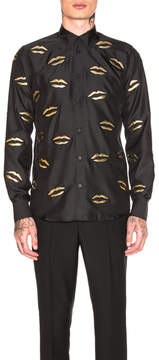 Givenchy Embroidered Lips Shirt